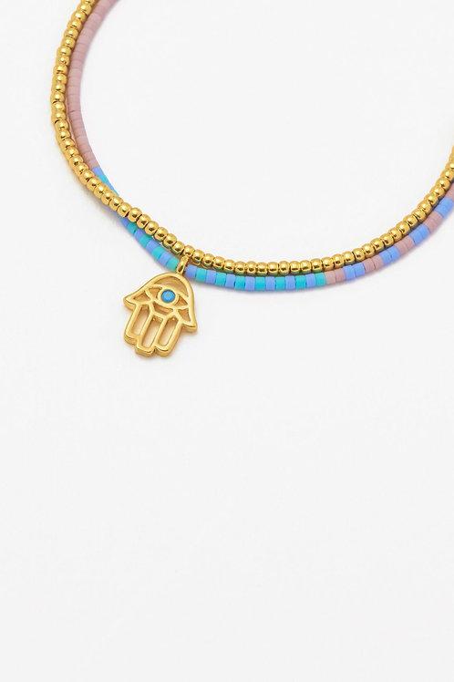 Gold Plated Hamsa Bracelet