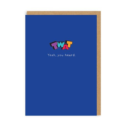 Twat Pin Badge Card