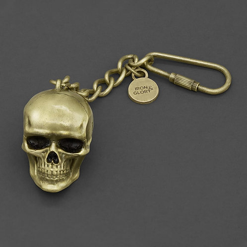 Dead Ringer. Gold Skull Keyring