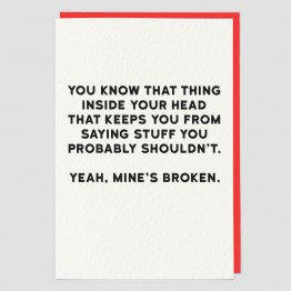 That Thing Inside Your Head Greeting Card