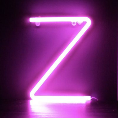 Neon Letter Z Pink