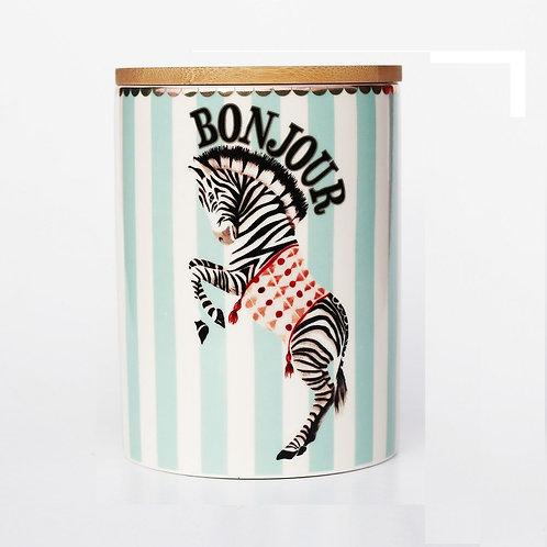 Yvonne Ellen Zebra Storage Jar