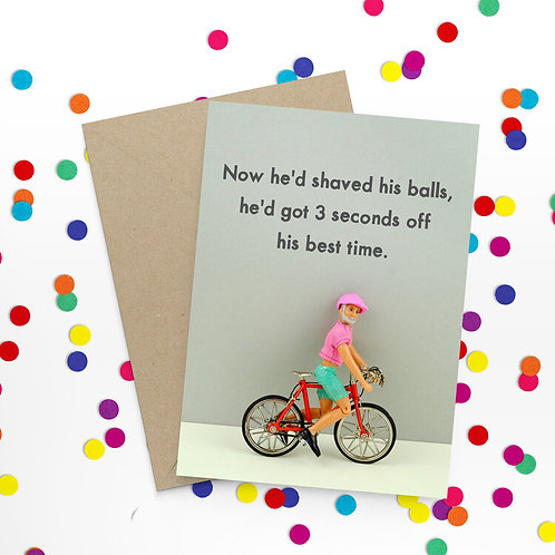 Now He Had Shaved His Balls Greeting Card