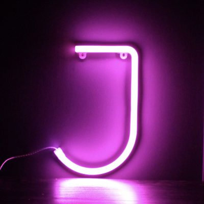 Neon LetterJ Pink