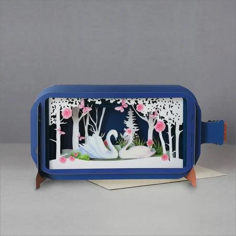 Swan 3D Pop Up Card