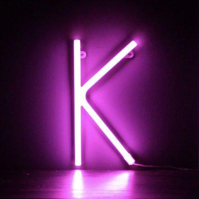 Neon Letter K Pink