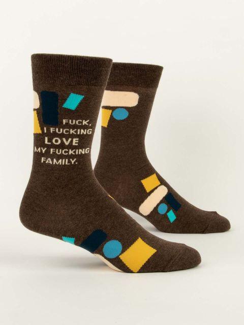 I Love My Fucking Family Mens Socks