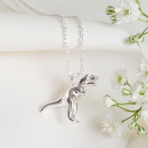 Silver T Rex Necklace