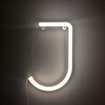 Neon Letter J White