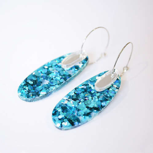 Super Sparkle Oval Earrings