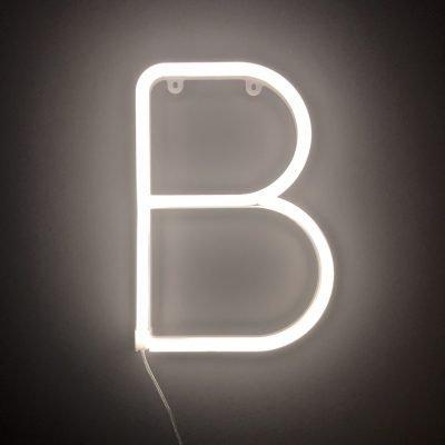 Neon Letter B White