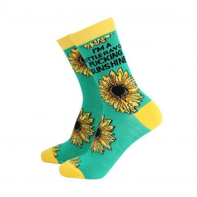 I'm A Little Ray Of Fucking Sunshine Ladies Socks