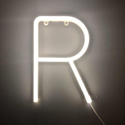 Neon Letter R White