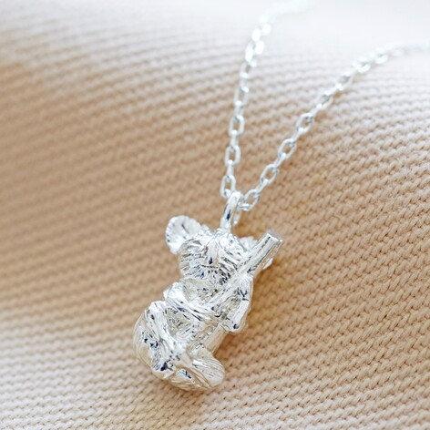 Silver Koala Pendant Necklace