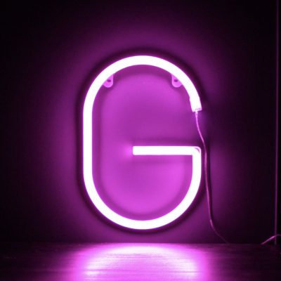 Neon Letter G Pink