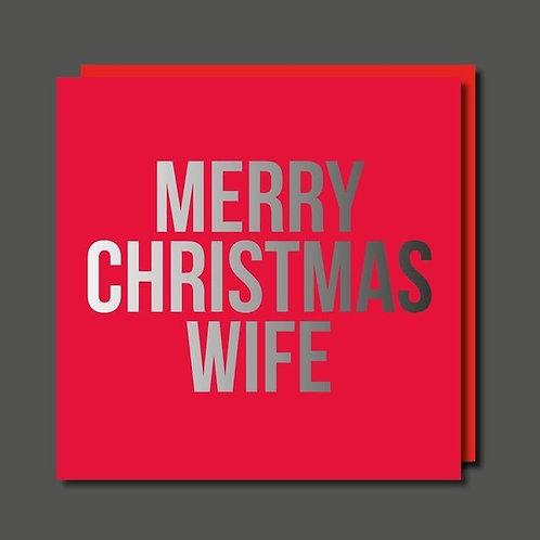 Merry Christmas Wife Card
