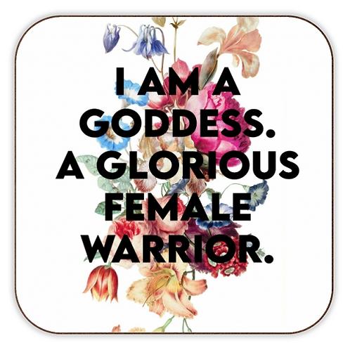 Glorious Female Warrior Coaster