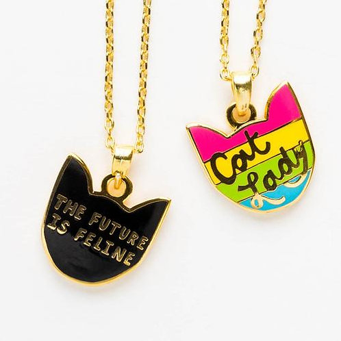 Cat Lady Double Sided Pendant