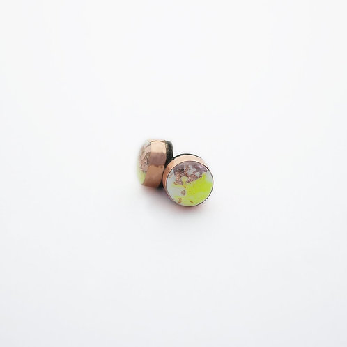 Yellow Dot Stud Earrings