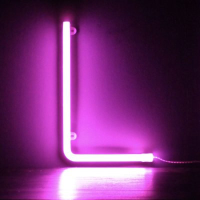 Neon Letter L Pink