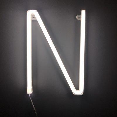 Neon Letter N White