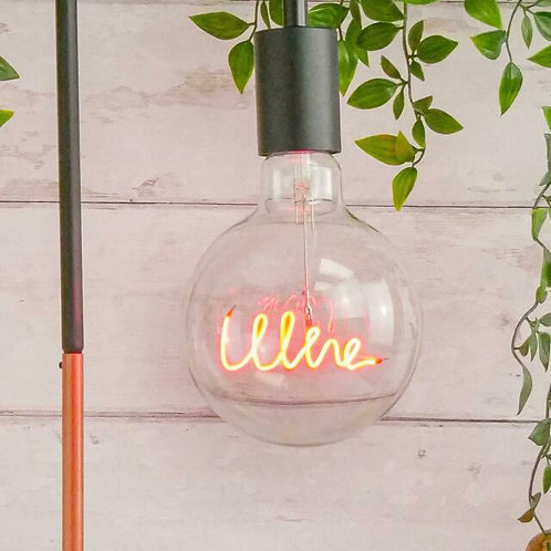 Wine Text Light Bulb