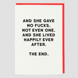 And She Gave No Fucks Greeting Card