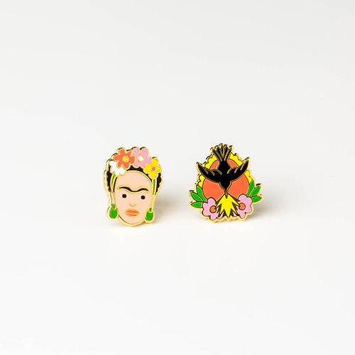 Frida Kahlo &Milagro Earrings