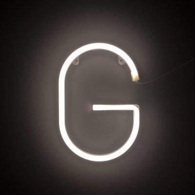 Neon Letter G White