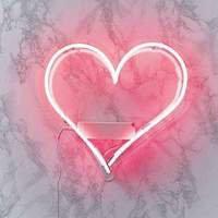 Pink Neon Heart Light