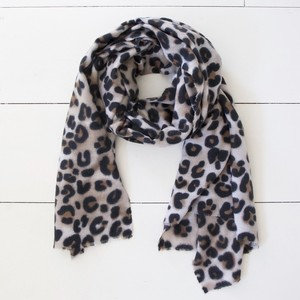 Soft Leapord Print Blanket Scarf