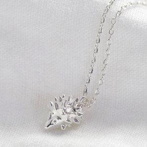 Silver Hedgehog Necklace
