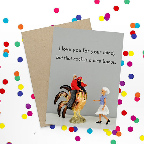 I Love You For Your Mind Greeting Card