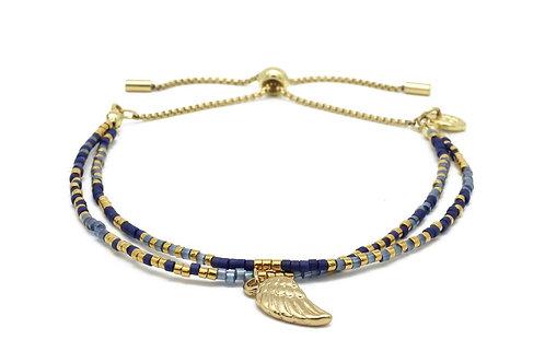 Navy Blue Gemstone Bracelet