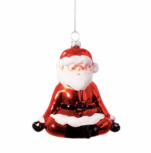 Yoga Santa Shaped Bauble