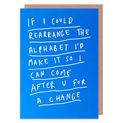 Arrange The Alphabet