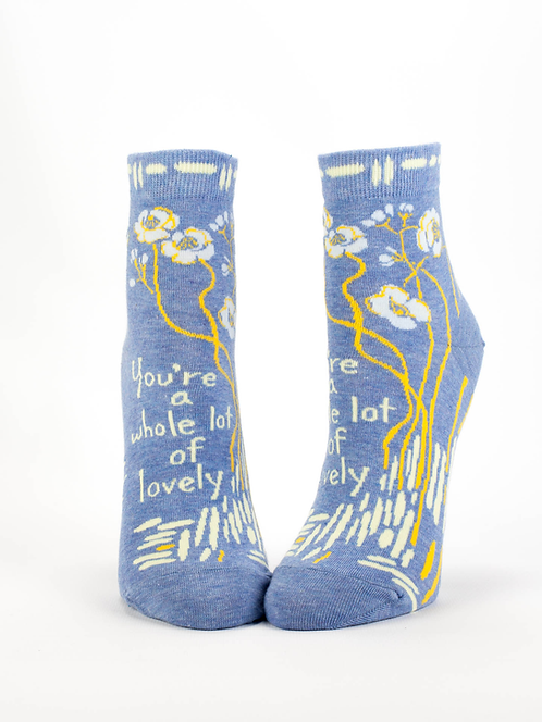 You're A Whole Lotta Lovely Womens Ankle Socks