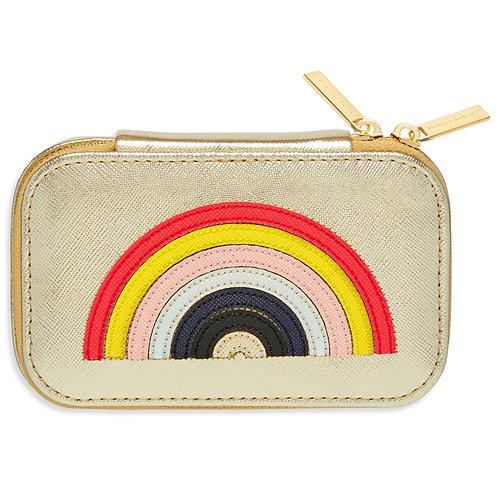 Rainbow Applique Mini Jewellery Box