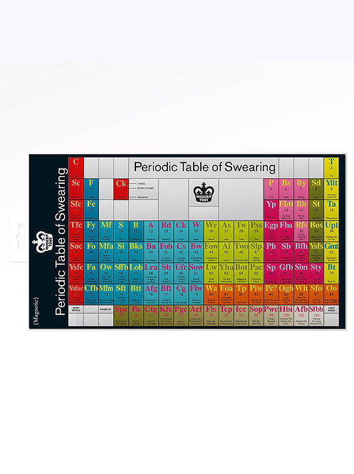 Magnetic Periodic Table Of Swearing