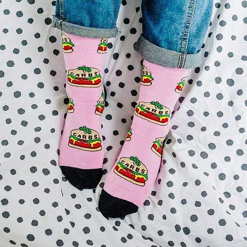 Carbs Burger Socks