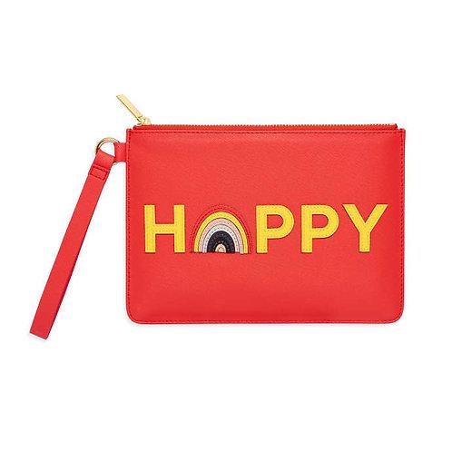 Happy Applique Medium Pouch