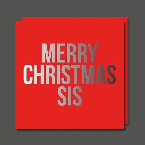 Merry Christmas Sis Card