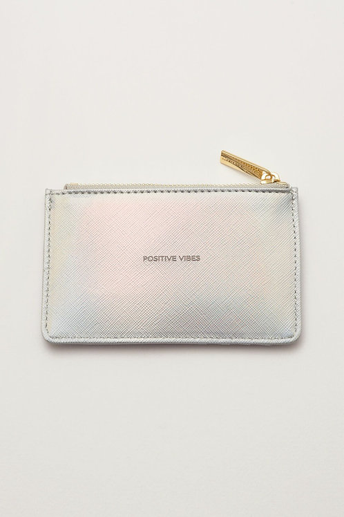 Iridescent Positive Vibes Card Purse