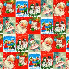 Santa And Kittens Christmas Wrap