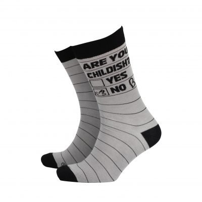 Are You Childish Mens Socks
