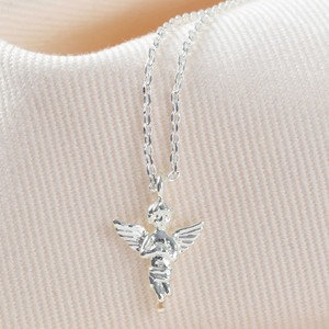 Silver Guardian Angel Necklace