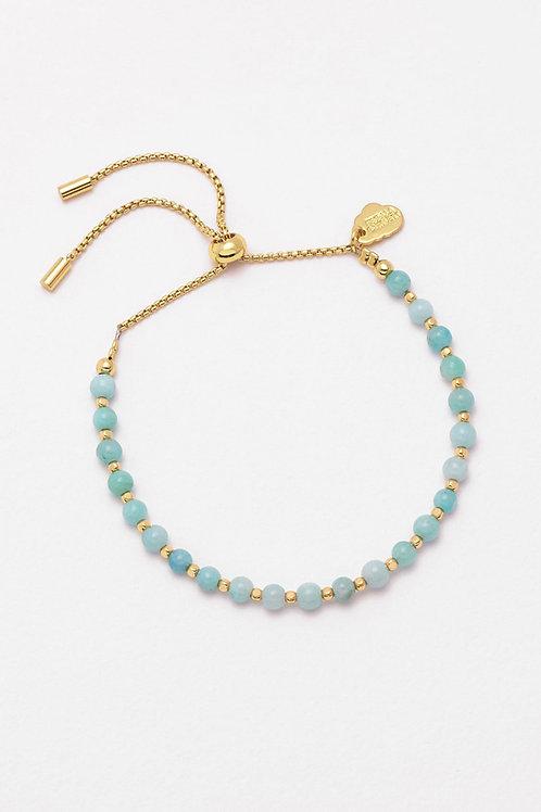 Gold Plated Amazonite Bracelet