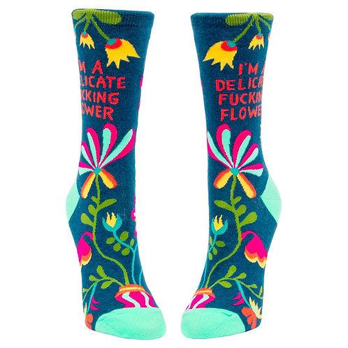 Delicate Fucking Flower Ladies Socks