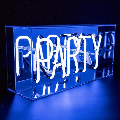 Party Acrylic Box Neon Light