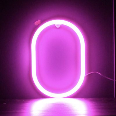Neon Letter O Pink